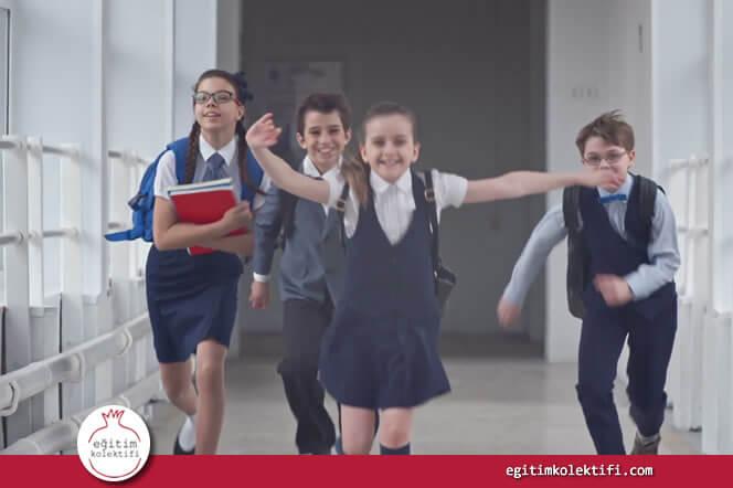 Kızlar okula başarı odaklı başlangıçlar yapar.