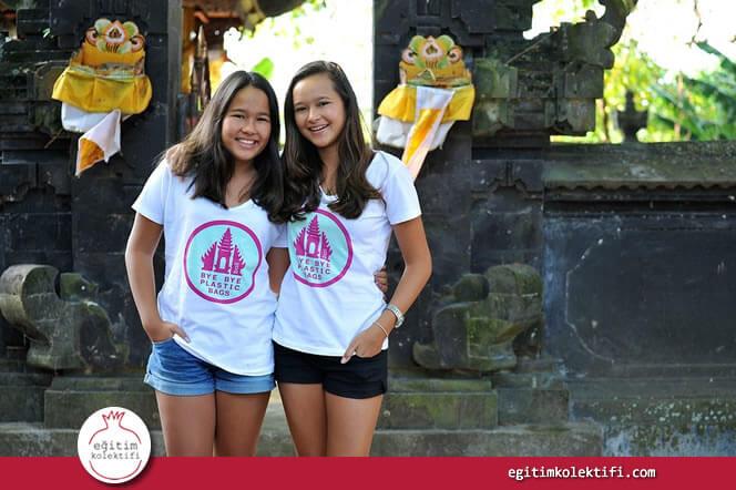 Isabel and Melati Wijsen, iki kardeş, 20000 gönüllünün katılımıyla Bali'de tarihin en büyük temizlik girişimini örgütlediler ve 65 ton çöp topladılar.