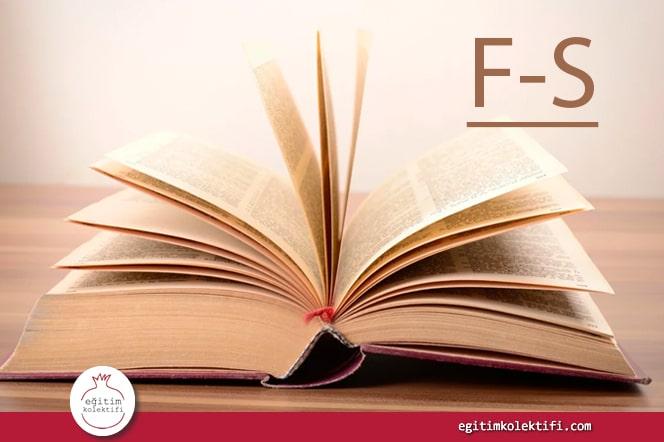 Türkçe Çağdaş Epistemoloji Sözlüğü (F-S)